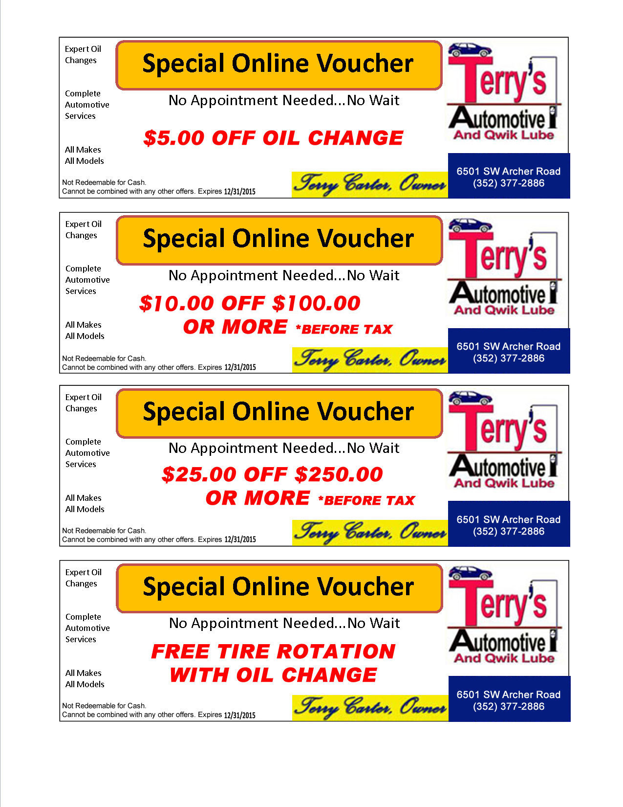 Coupons alignment firestone